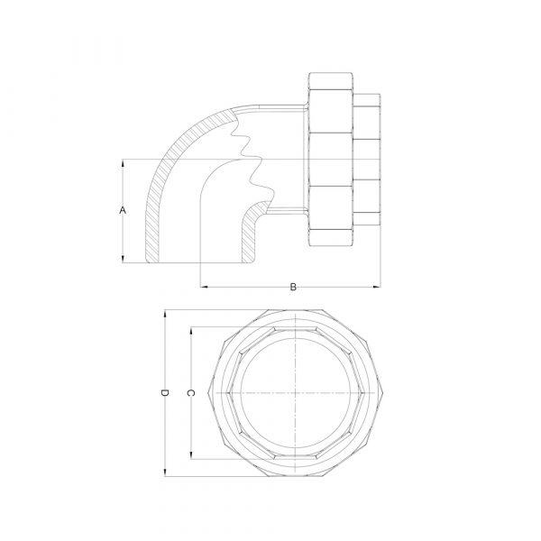 LI-EUN-01 Elbow Union F/F