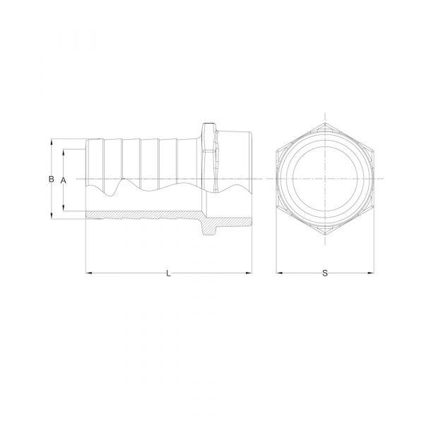 LI-HNIP-01 Hose Nipple