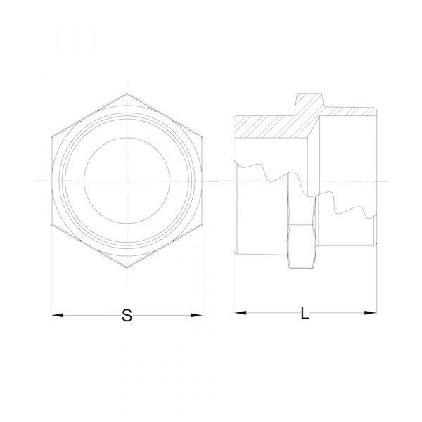 LI-RHEX-01 Reducing Hex Nipple